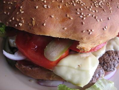 hamburger géant -- Cliquez pour voir l'image en entier