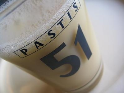 lait de poule dans un verre à pastis -- Cliquez pour voir l'image en entier